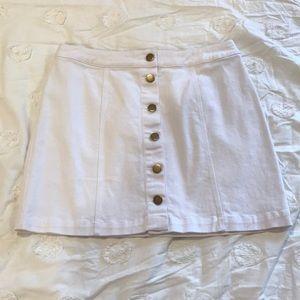 White Jean Skirt